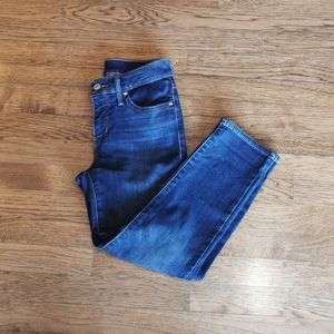 Levi's Darkwash Skinny Stretch Crop Jeans …